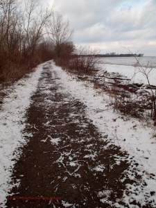 Path along the spit
