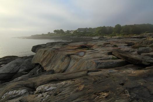 Fog meets granite.