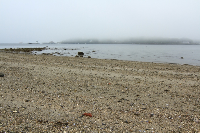 Beach, fog & boats