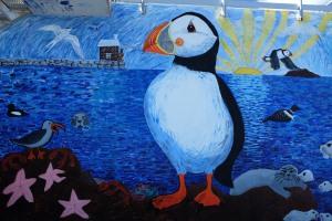 Puffin mural