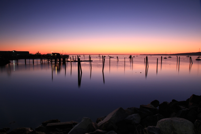 Rockland Harbor at dawn, Mid-October