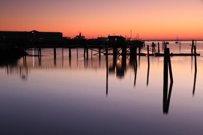 Rockland Harbor at dawn, Mid-October
