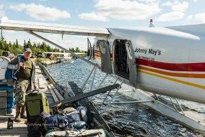 Rich loading the de Havilland Single-engine (turbine) Otter at Kuujjuaq