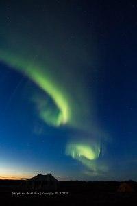 Aurora Borealis over Lake Diana