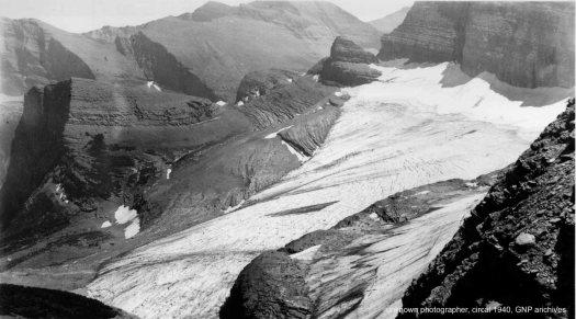 Grinnell Glacier Overlook: 1940