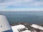 Lake Ontario coastline near Sodus, NY Bay